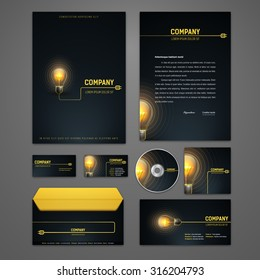 Electricity business card images stock photos vectors shutterstock kit of electric identity solutions for corporate or business which includes cd cover business card colourmoves