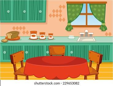 Cartoon Kitchen Images Stock Photos Vectors Shutterstock