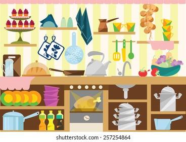 Cocina Desordenada Stock Vectors Images Vector Art Shutterstock