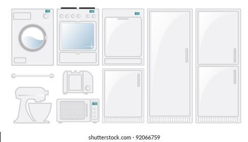 Kitchen appliances in a fresh modern style