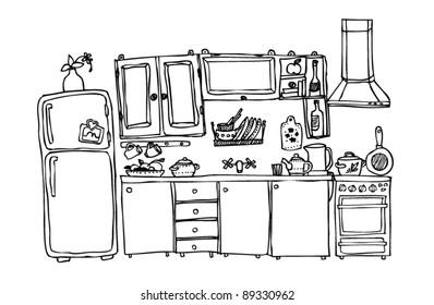 kitchen appliances and utensils