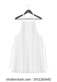 Kitchen apron on a white background. Vector illustration.