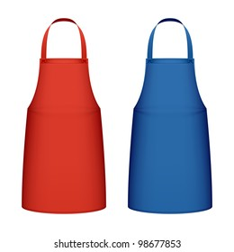 Kitchen apron. Vector.