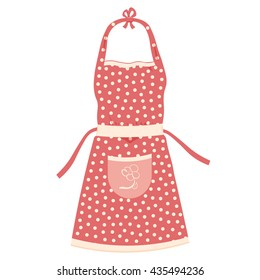 kitchen apron vector illustration isolated on a white background