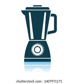 Kitchen Blender Icon. Shadow Reflection Design. Vector Illustration.