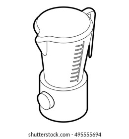 Kitchen blender machine icon in outline style on a white background vector illustration