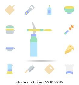 Kitchen, blowtorch icon. Universal set of Kitchen for website design and development, app development