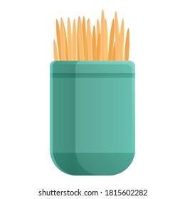 Kitchen box toothpick icon. Cartoon of kitchen box toothpick vector icon for web design isolated on white background