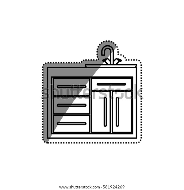 Kitchen cabinet design icon vector illustration graphic design