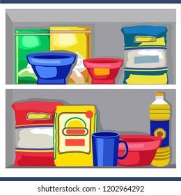 Cooking Oil On Shelf Stock Vectors, Images & Vector Art