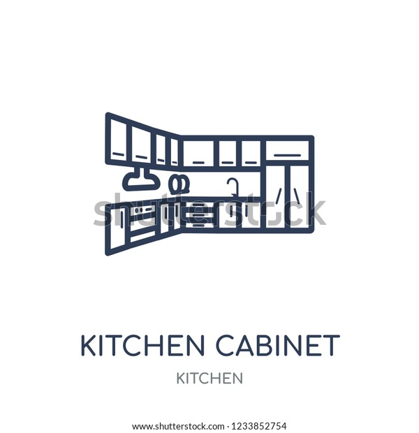 Kitchen Cabinet Icon Kitchen Cabinet Linear Stock Vector Royalty