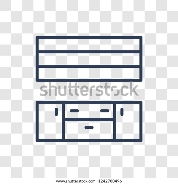 Kitchen Cabinet Icon Trendy Linear Kitchen Stock Vector Royalty