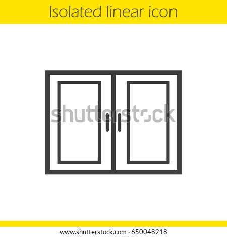 Kitchen Cabinet Linear Icon Thin Line Stock Vector Royalty Free