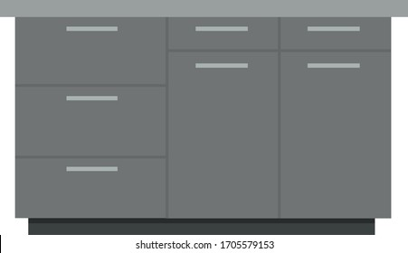 Solid Wood Kitchen Cabinets Stock Vectors Images Vector Art Shutterstock