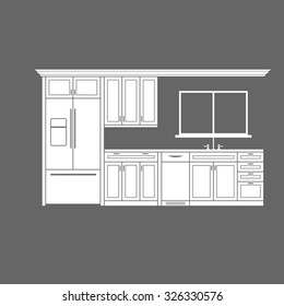Kitchen Cabinet Drawing Images Stock Photos Vectors Shutterstock