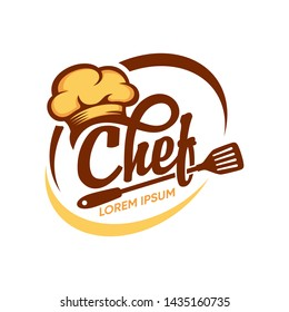 Kitchen Chef Design Logo template