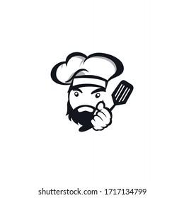 kitchen chef design logo template