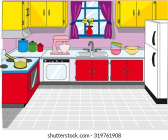 Cartoon Kitchen Images, Stock Photos & Vectors | Shutterstock