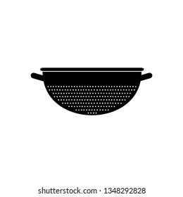 Kitchen colander icon. Vector Illustration