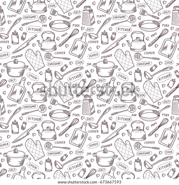 Kitchen Cook Vector Seamless Pattern Kitchenware Stock Vector Royalty Free 673667593,Aashto Roadside Design Guide Clear Zone