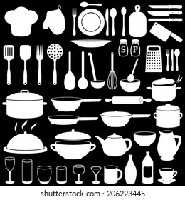 Kitchen Cooking Icons Set