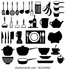 Kitchen and cooking tools utensils