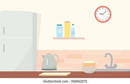 Kitchen counter vector