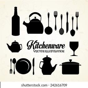 Kitchen design over white background, vector illustration.