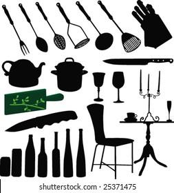 Kitchen elements-vector