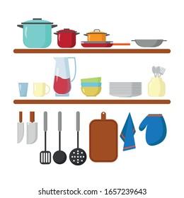 Kitchen equipment icon image vector