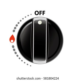 kitchen gas flame knob switch.