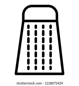 Kitchen grater line icon. Box grater vector illustration isolated on white. Cheese grater outline style design, designed for web and app. Eps 10