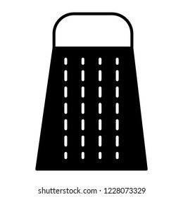 Kitchen grater solid icon. Box grater vector illustration isolated on white. Cheese grater glyph style design, designed for web and app. Eps 10