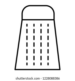 Kitchen grater thin line icon. Box grater vector illustration isolated on white. Cheese grater outline style design, designed for web and app. Eps 10.