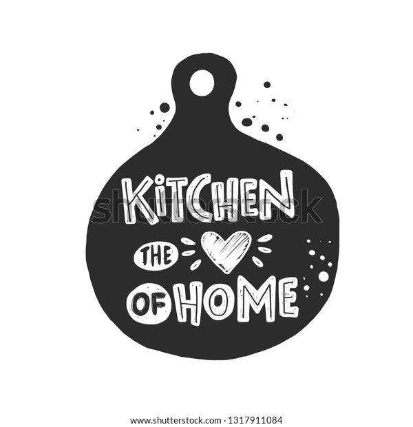 Kitchen Heart Home Ink Hand Drawn Stock Vector Royalty Free 1317911084