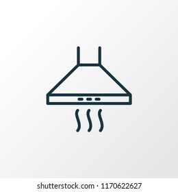Kitchen hood icon line symbol. Premium quality isolated extractor element in trendy style.