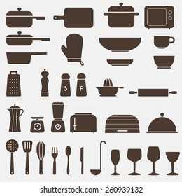 Kitchen Icon Set - Vector Graphics