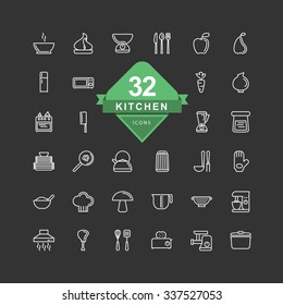 Kitchen Icons ( Line Icons )