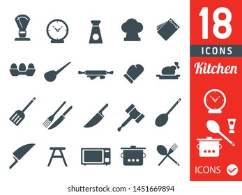 Kitchen icons vector icon set