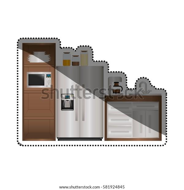 Kitchen interior design icon vector illustration graphic design