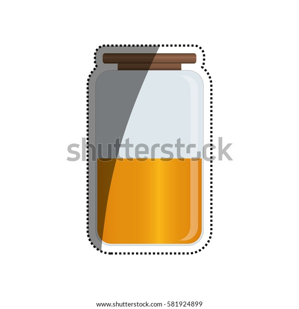 Kitchen jar isolated icon vector illustration graphic design
