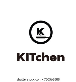 kitchen k  professional logo flat vector template