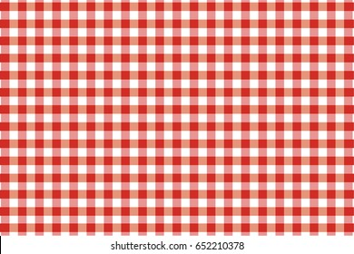 Kitchen menu backdrop. Retro fabric surface checkered tablecloth texture