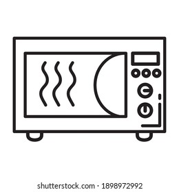 kitchen microwave oven appliance line style icon vector illustration design