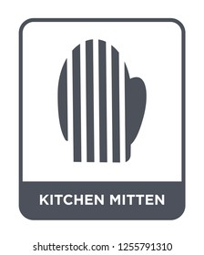 kitchen mitten icon vector on white background, kitchen mitten trendy filled icons from Kitchen collection, kitchen mitten simple element illustration, kitchen mitten simple element illustration