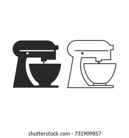 Kitchen Mixer Icon Vector. Outline Vector