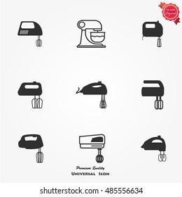 Kitchen mixer icons