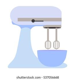 Kitchen mixer vector, illustration, icon.