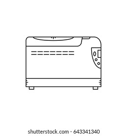 Kitchen multicooker machine line icon. Vector illustration.