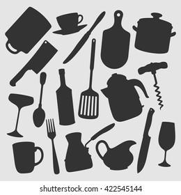 Kitchen Objects / Vector illustration
